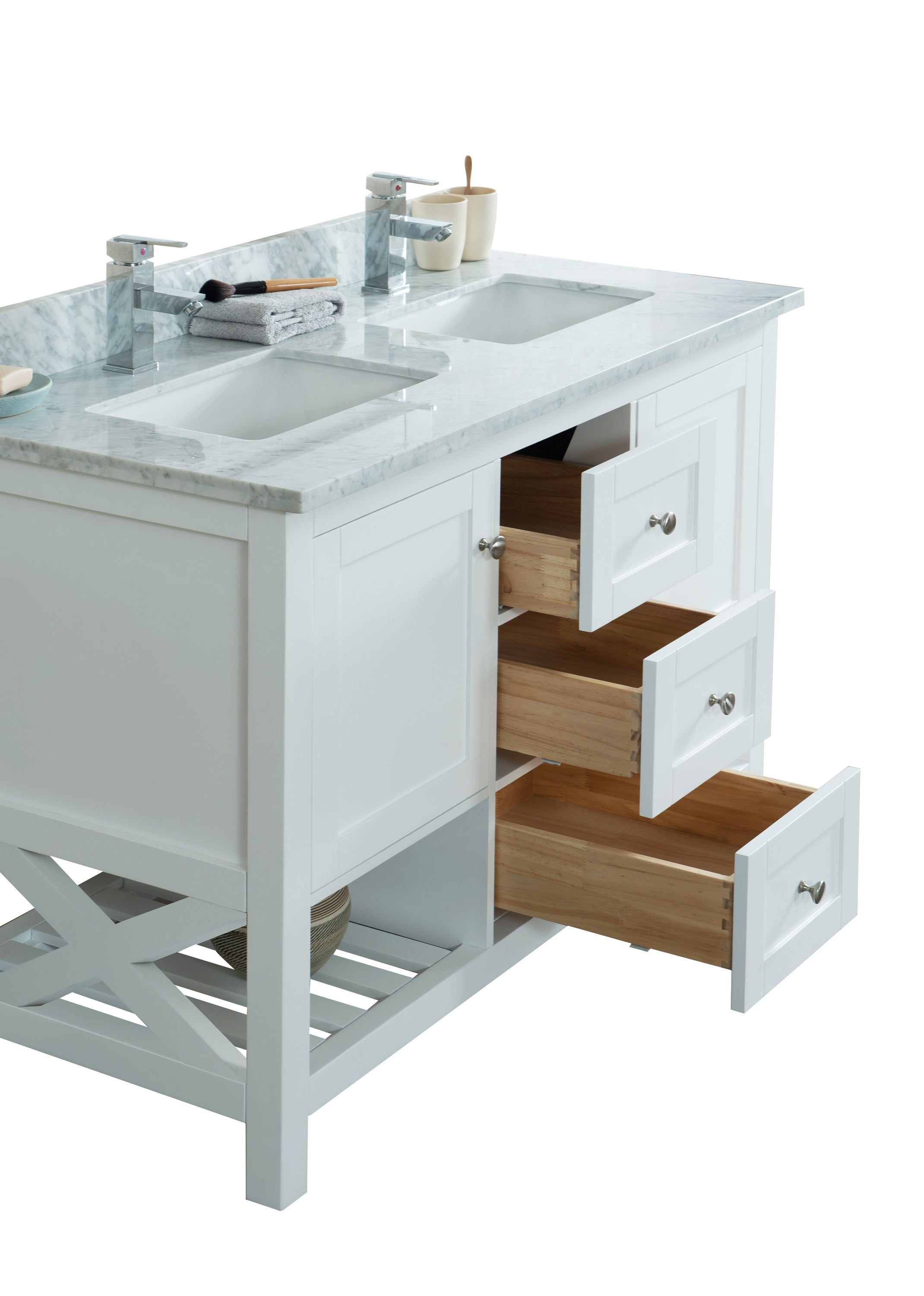 "48"" Taiya Bathroom Vanity In Toga White"