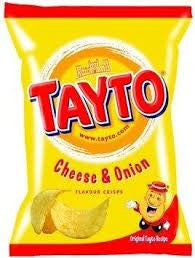 Tayto Cheese & Onion.  Out of stock