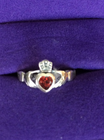 Amber Claddagh Ring
