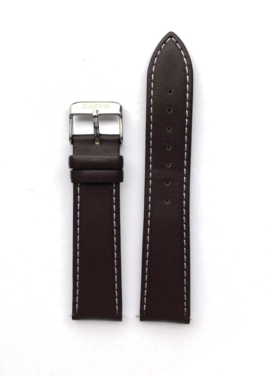 Interchangeable Leather Strap - Dark Brown
