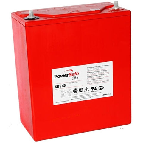 BATTERY PowerSafe SBS-60 Sealed Lead Acid Battery 12.0v 51.0Ah BAT.SBS.60