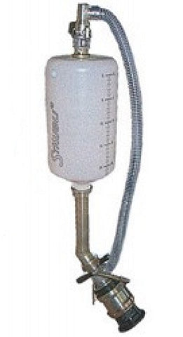 STAUBLI FILL BOTTLE, 25 LITER, 45° W/SOCKET (STA.SAF45.1025/RO)