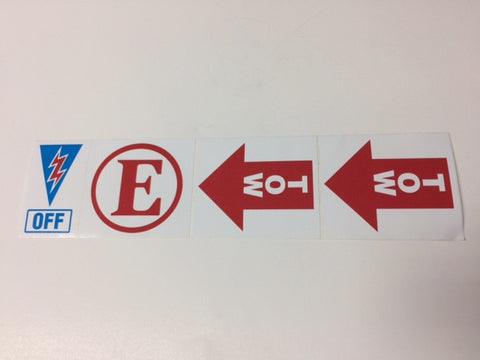 4N1, E/OFF & TOW X 2 SAF.DECAL