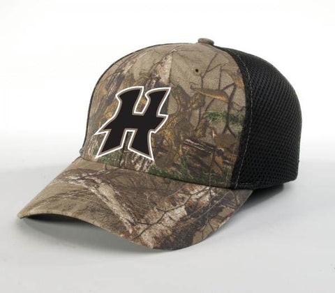 HCB855-Flex Fit Camo/Black Hat