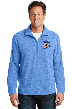 ALF234 Port Authority® Heather Microfleece 1/2-Zip Pullover