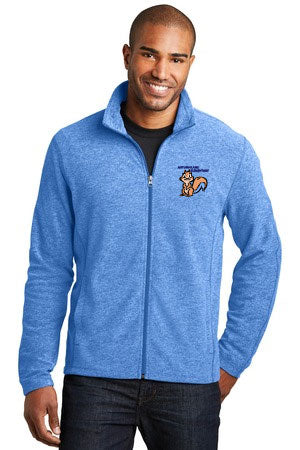 ALF235 Port Authority® Heather Microfleece Full-Zip Jacket