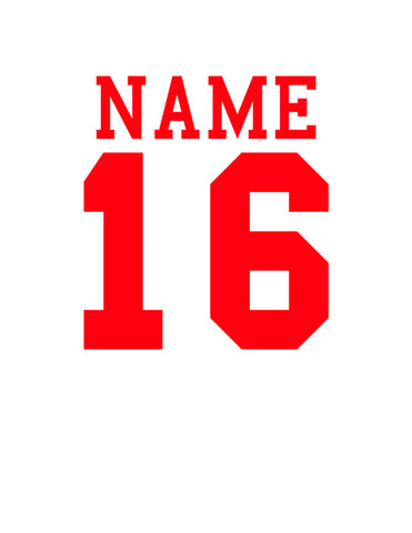 Customization: Names or Numbers
