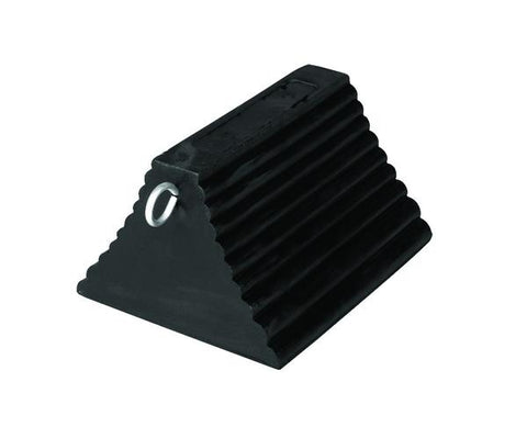 Rubber Wheel Chocks Pyramid with Eye Hook - Forklift Training Safety Products