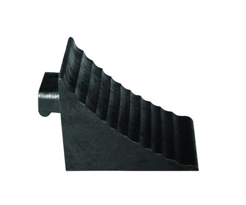 Rubber Wheel Chock w/ Integral Handle - Forklift Training Safety Products