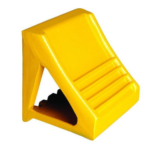 Yellow Cast Iron Chock - Forklift Training Safety Products