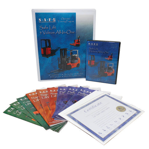 SAFE-Lift All-In-1 DVD Package - Forklift Training Safety Products