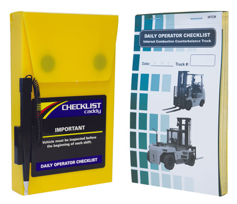 Checklist Caddy Kit - 1 Book & Case - Forklift Training Safety Products