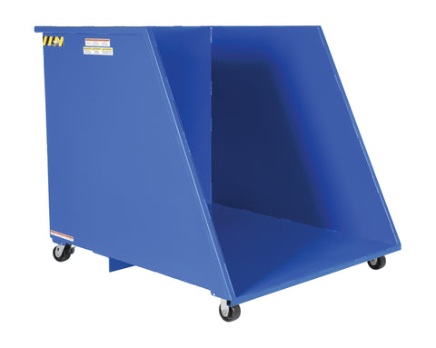 Open Ended Steel Dumping Hopper - Forklift Training Safety Products