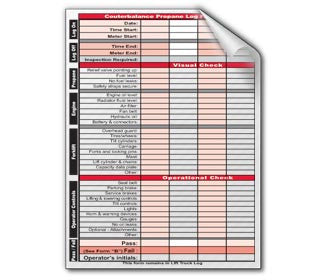 Lift Truck Log Refill Book - Forklift Training Safety Products