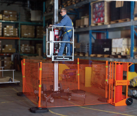 Portable Safety Zone Barrier System - Forklift Training Safety Products