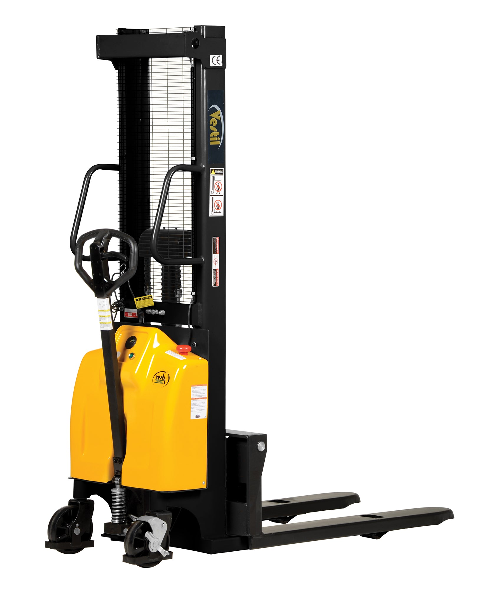 Combination Hand Pump and Electric Stacker - Forklift Training Safety  Products ...