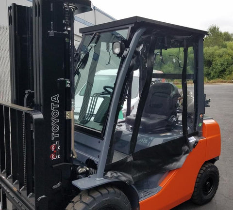Tuffcab Forklift Panel Cab Enclosure - Forklift Training Safety Products