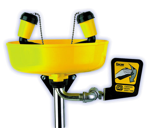 Yellow Bowl™ Eye Wash Station - Forklift Training Safety Products