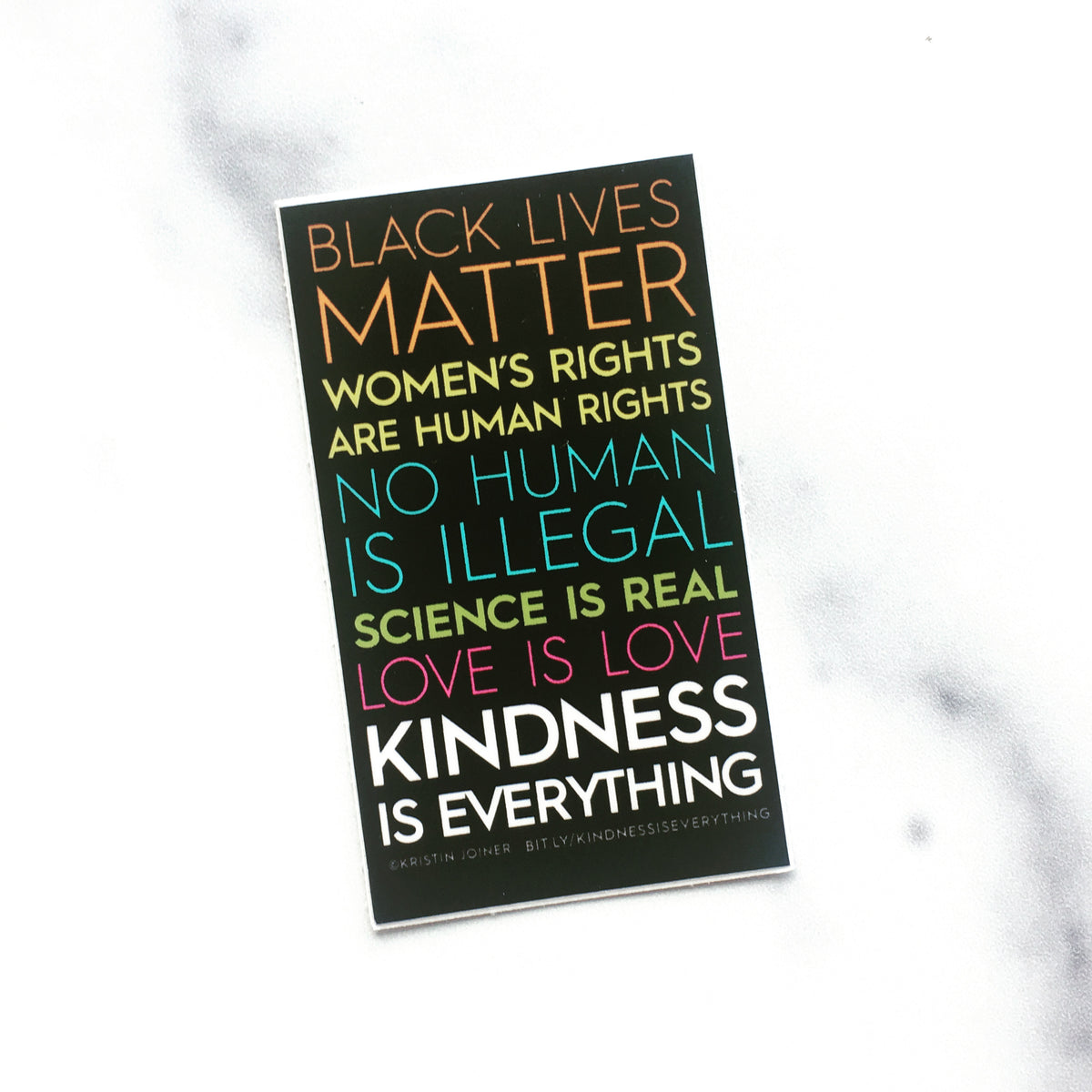 Sticker, Kindness is Everything Official Sticker Black Wisconsin Alliance for Women's Health