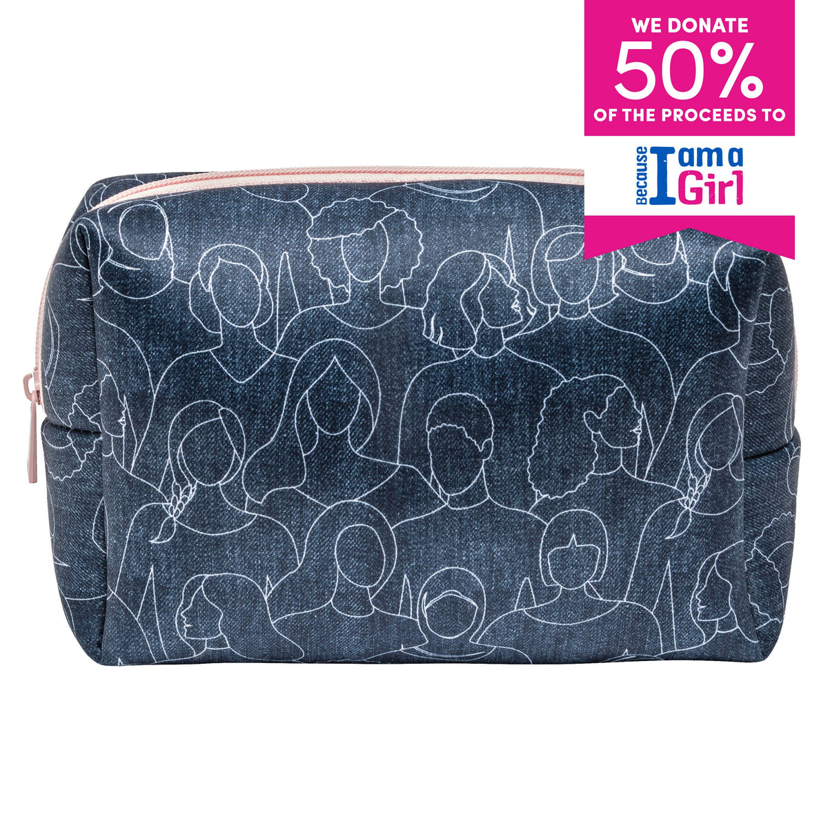 LARGE COSMETIC CASE - BECAUSE I AM A GIRL Dark Slate Gray MYTAGALONGS