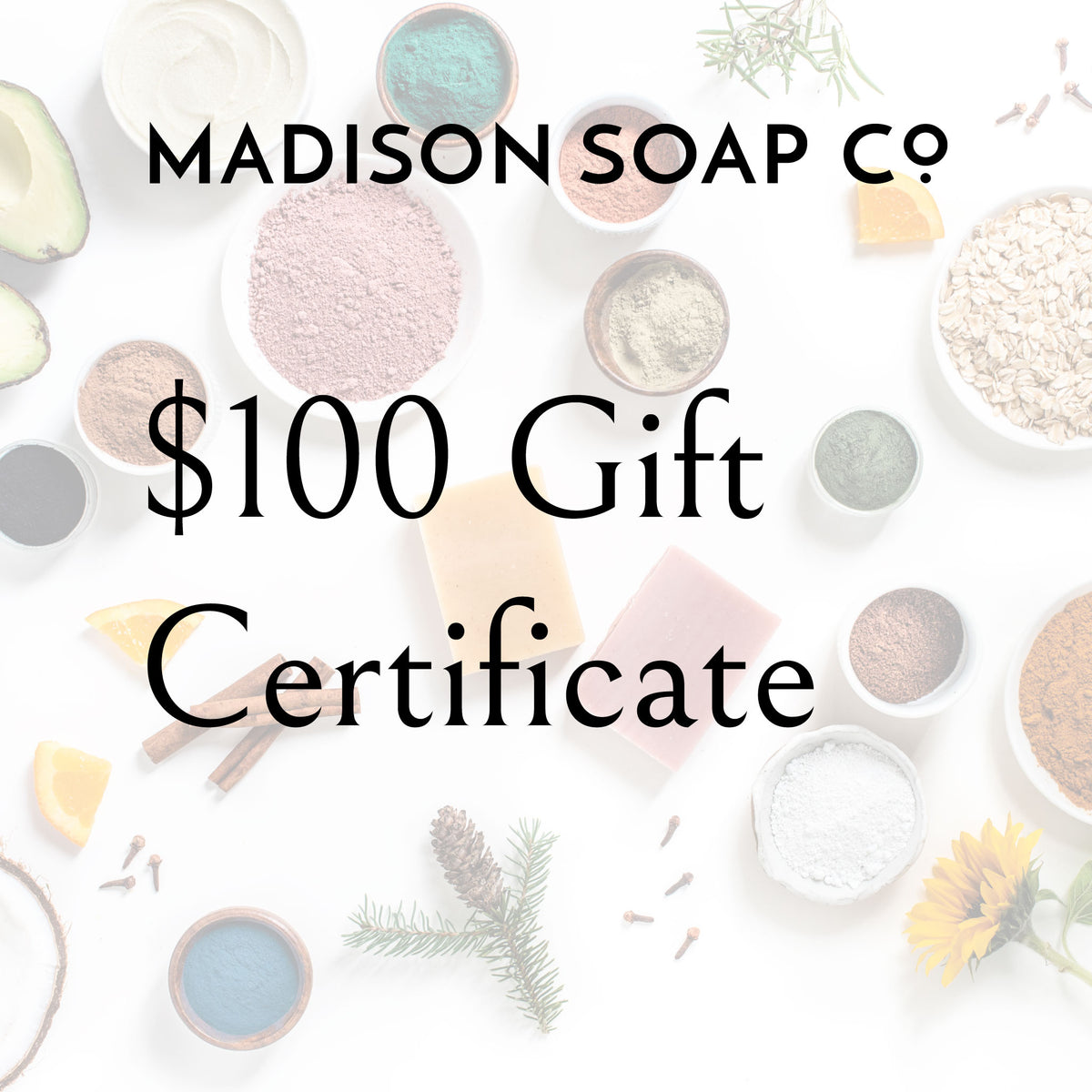 Gift Certificate Gift Certificate by Madison Soap Company from Madison Soap Company