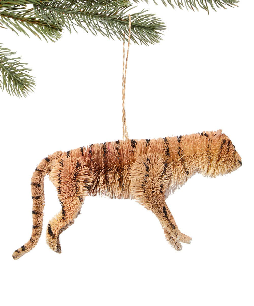 Bottle Brush Tiger Ornament Dark Salmon Silk Road Bazaar