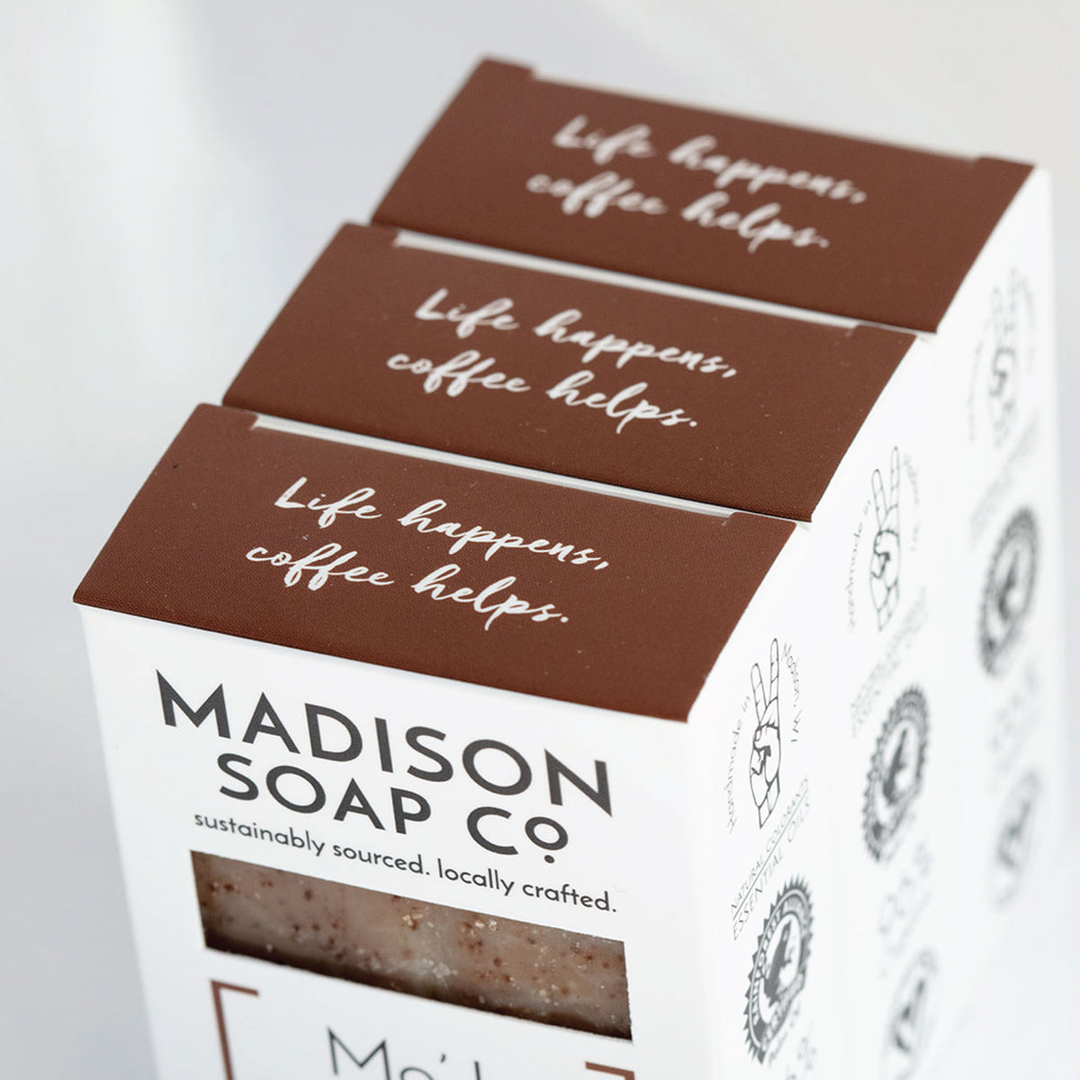 """MoJo"" Coffee + Clove Bar Soap Soap by Madison Soap Company from Madison Soap Company"