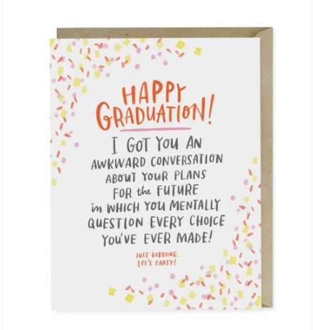 Card, Awkward Graduation Card by Emily McDowell from Madison Soap Company