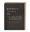 Definition of Divorce Card by Emily McDowell from Madison Soap Company