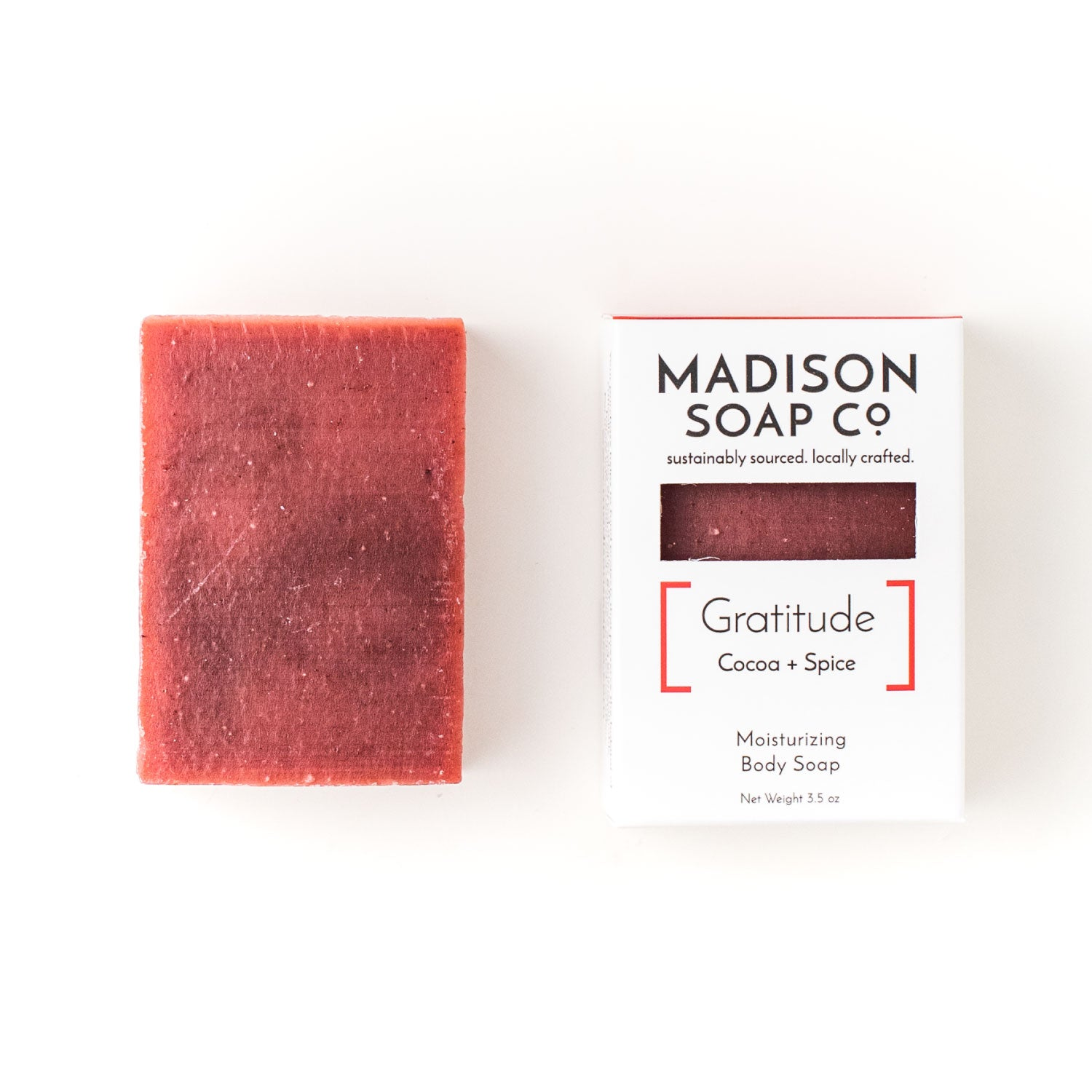 """Gratitude"" Cocoa + Spice Bar Soap Soap by Madison Soap Company from Madison Soap Company"