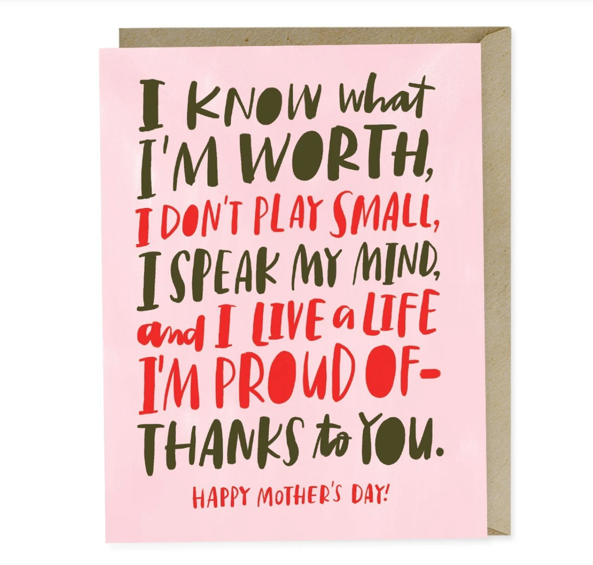 Card, Know My Worth Card by Emily McDowell from Madison Soap Company