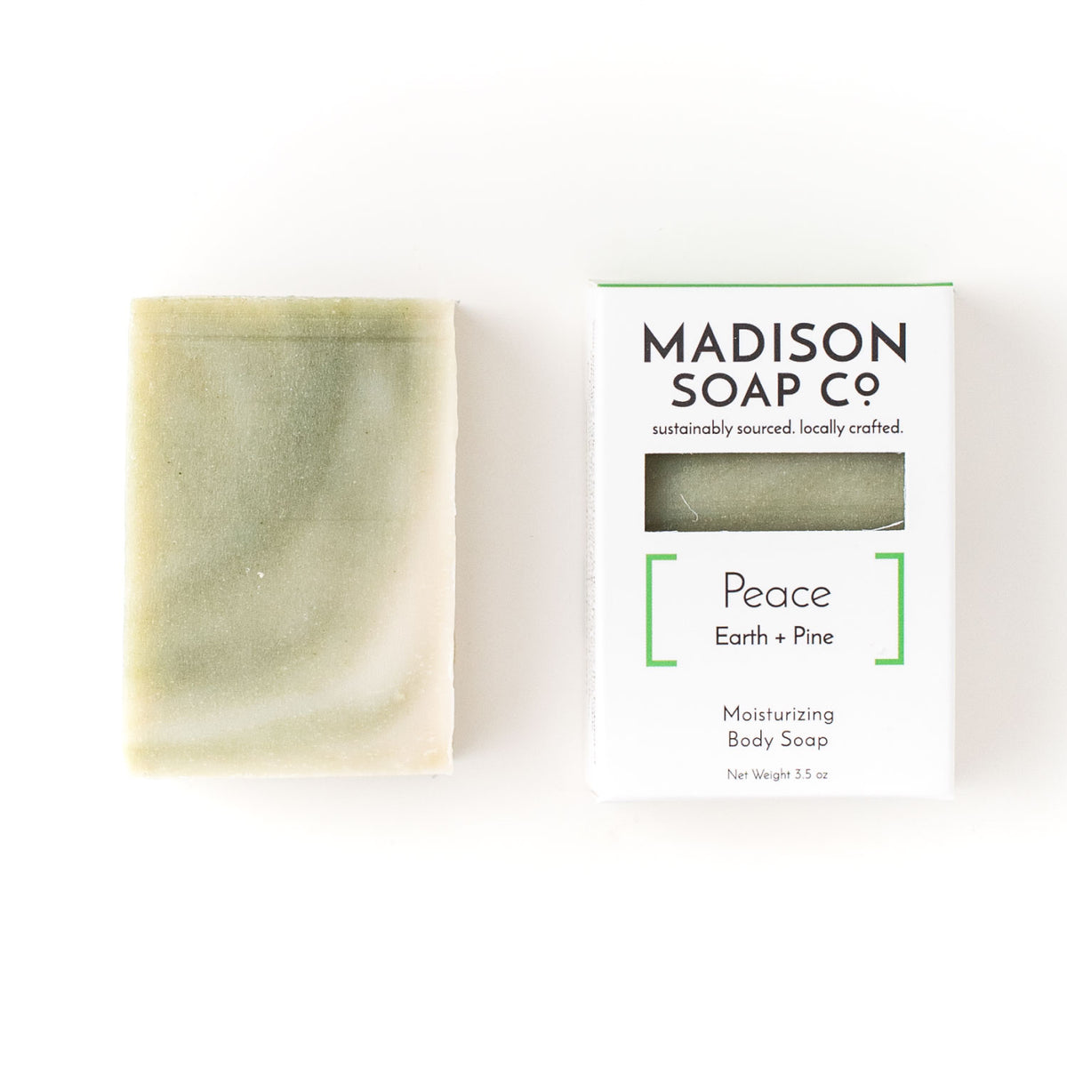 """Peace"" Earth + Pine Bar Soap Soap by Madison Soap Company from Madison Soap Company"