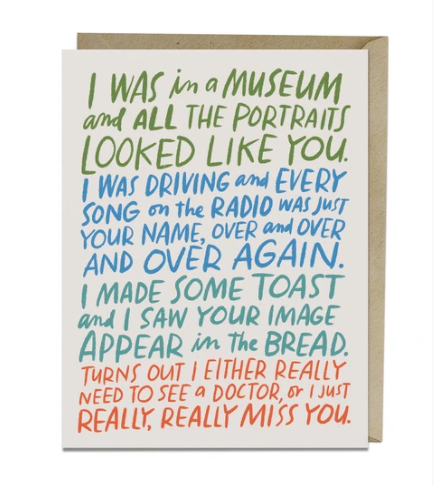 Card, Really Miss You Card by Emily McDowell from Madison Soap Company