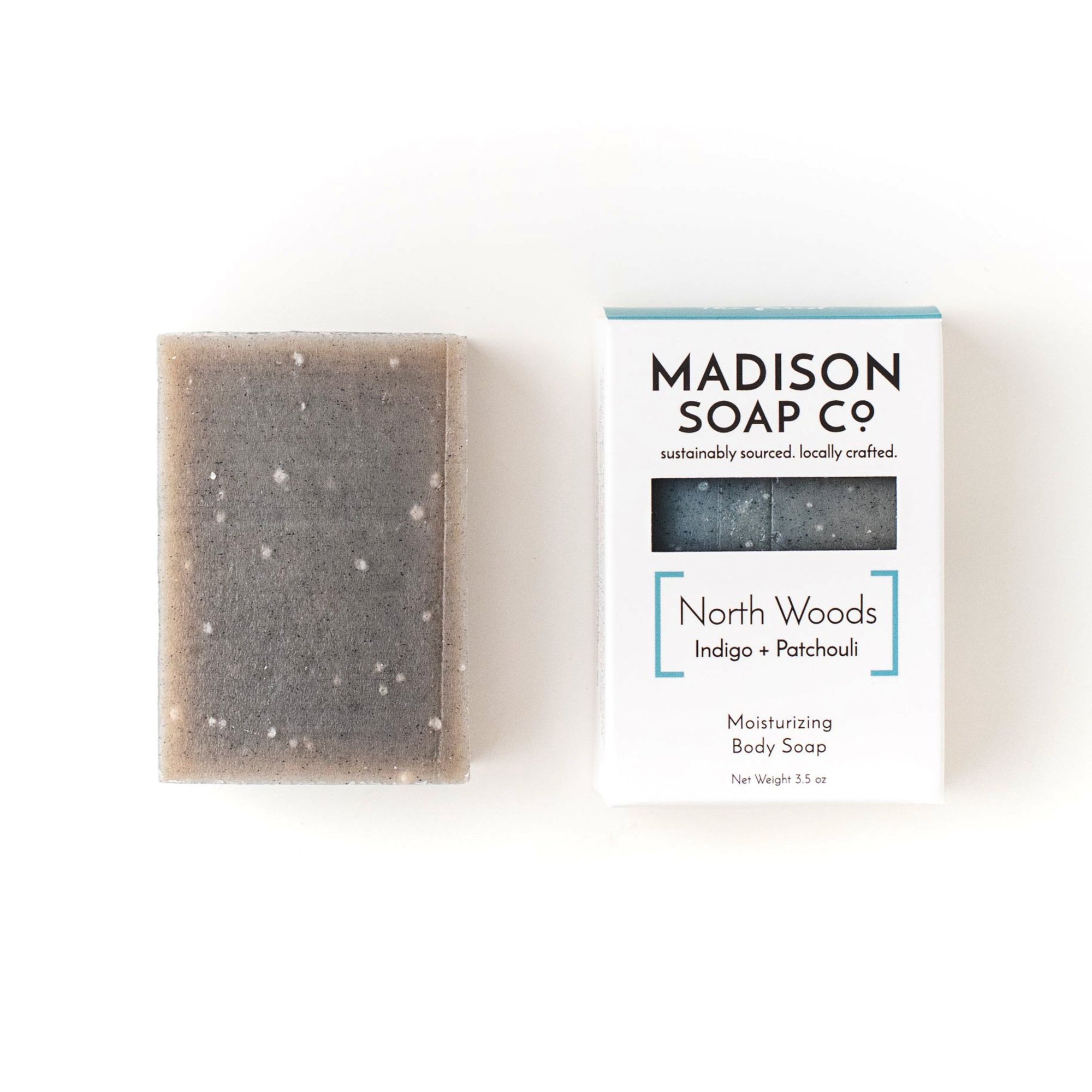 """North Woods"" Indigo + Patchouli Bar Soap Soap by Madison Soap Company from Madison Soap Company"
