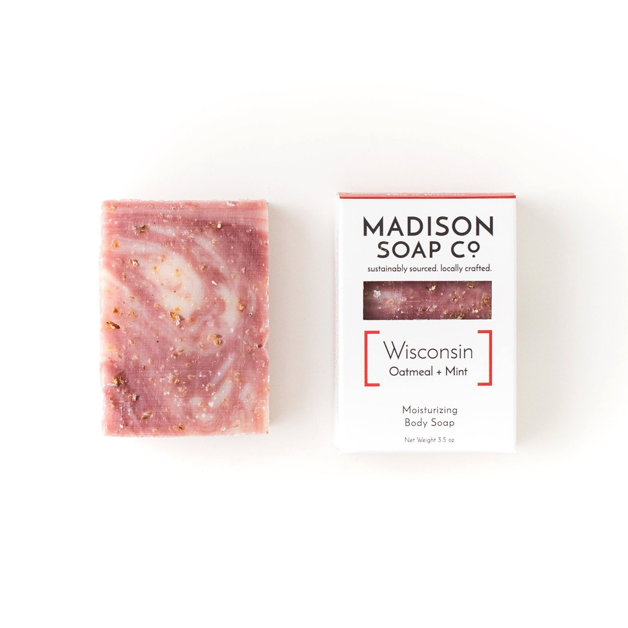 """Wisconsin"" Oatmeal + Mint Bar Soap Soap by Madison Soap Company from Madison Soap Company"