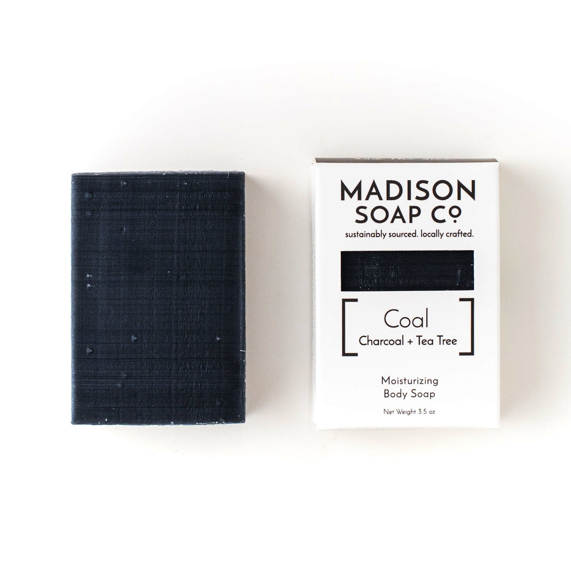 """Coal"" Activated Charcoal + Tea Tree Bar Soap Soap by Madison Soap Company from Madison Soap Company"