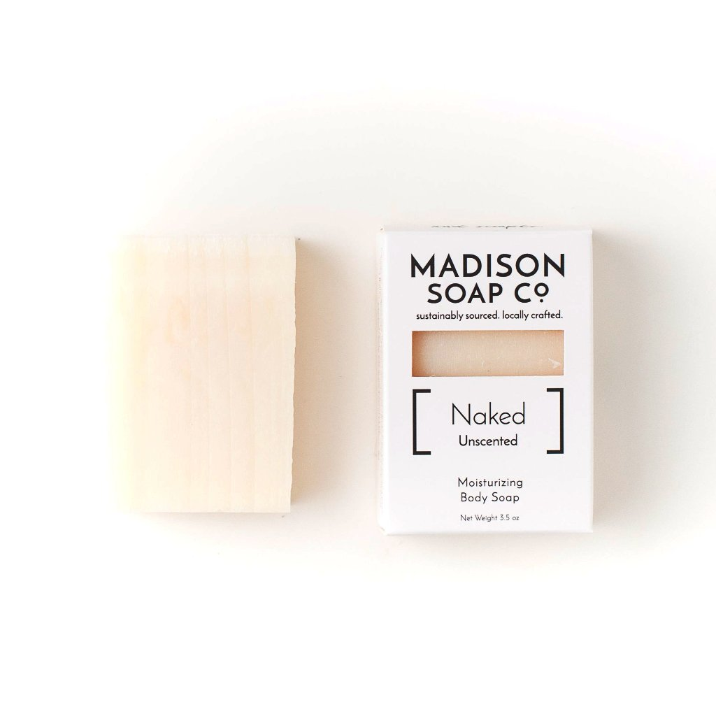 """Naked"" Unscented Bar Soap Soap by Madison Soap Company from Madison Soap Company"