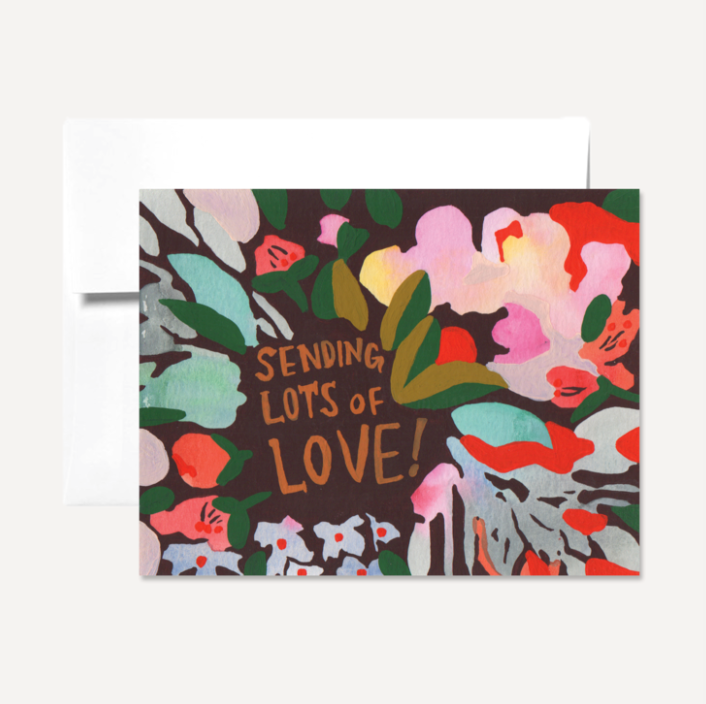 Sending Love Card card by Persika Design Co from Madison Soap Company