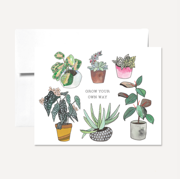 Grow Your Own Way Card Card by Persika Design Co from Madison Soap Company