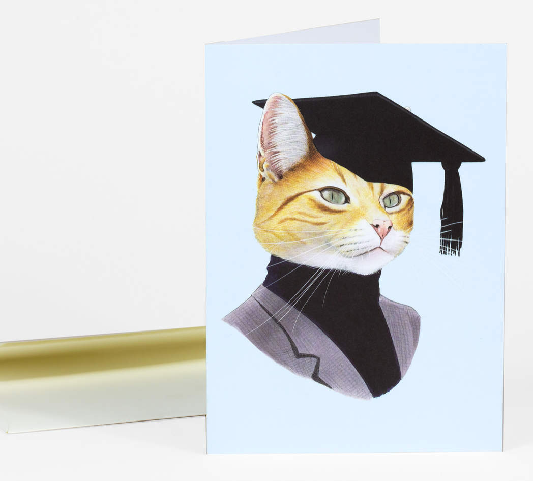 Graduation Cat Card by Berkley Illustration from Madison Soap Company