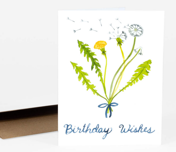 Dandelion Birthday Wishes Card by Little Truths Studio from Madison Soap Company