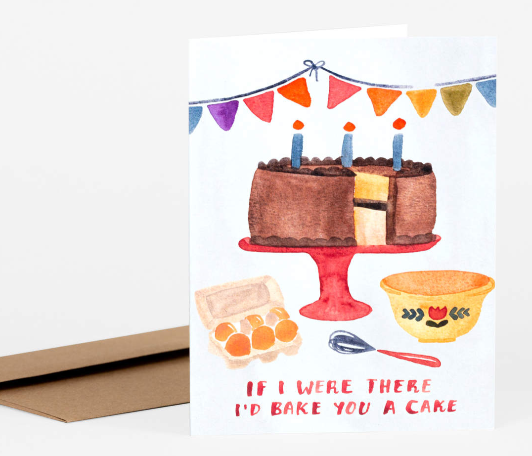 Cake Birthday Card Card by Little Truths Studio from Madison Soap Company