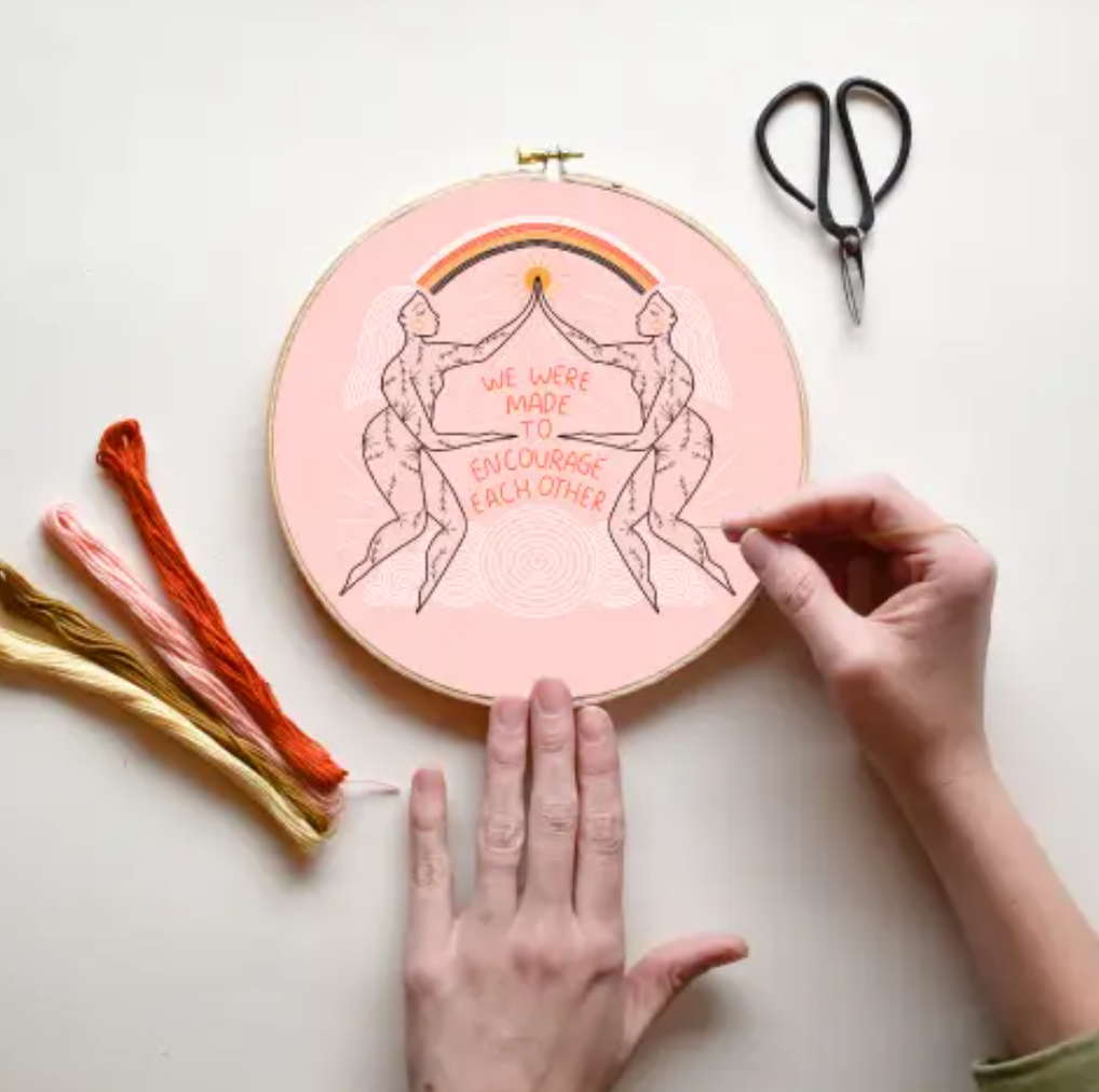 Encourage Each Other, DIY Embroidery Kit
