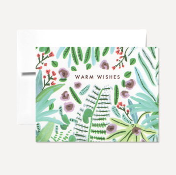 Card, Warm Wishes Card Gray Persika Design Co