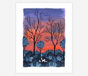 """Foxes at Sunrise"" Print"