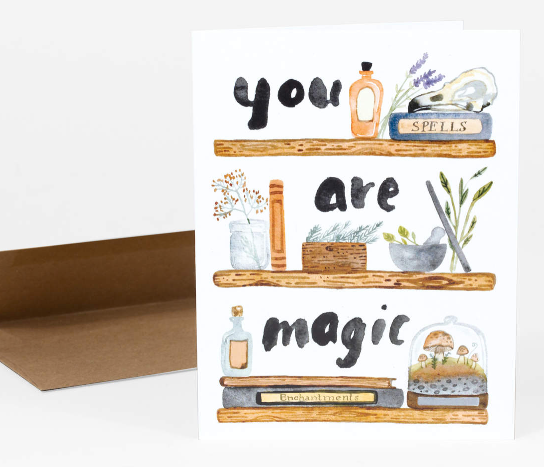 """You Are Magic"" Card Card by Little Truths Studio from Madison Soap Company"