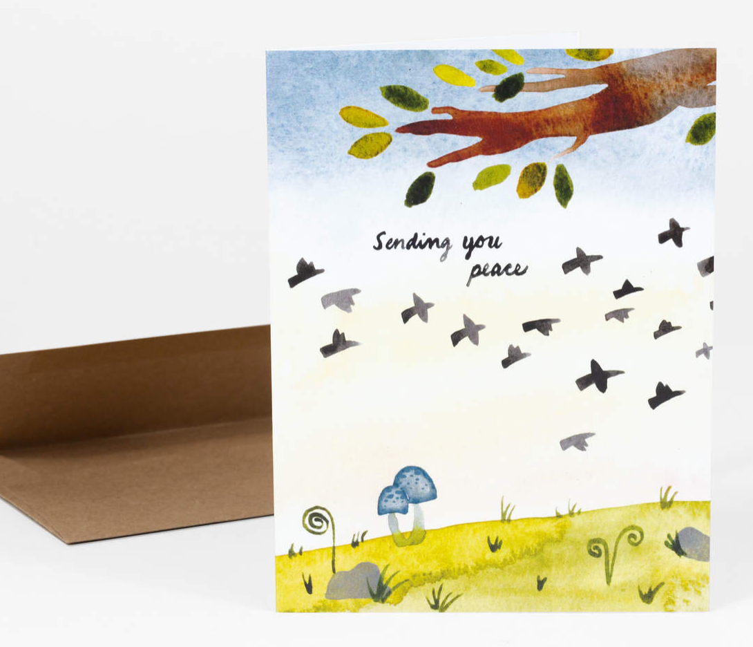 """Sending You Peace"" Card Card by Little Truths Studio from Madison Soap Company"
