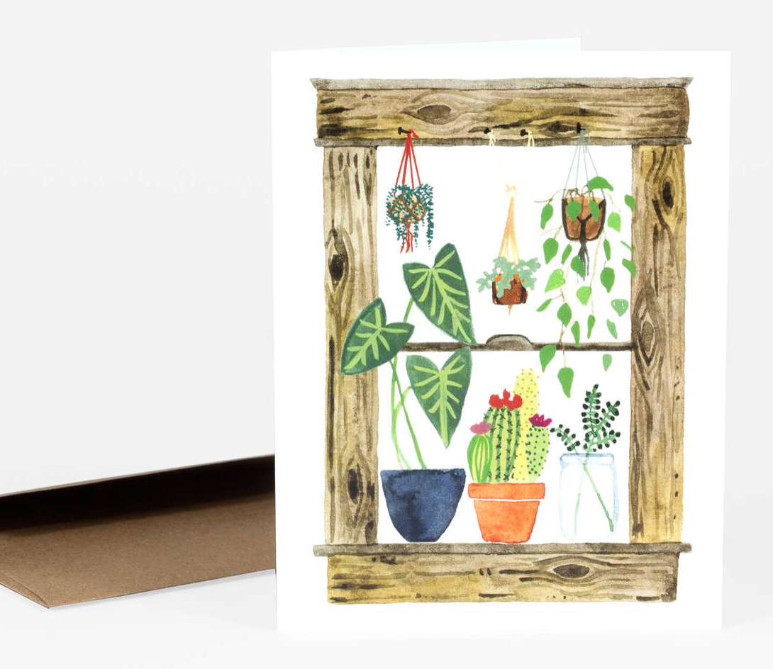 """Plants in the Window"" Card Card by Little Truths Studio from Madison Soap Company"
