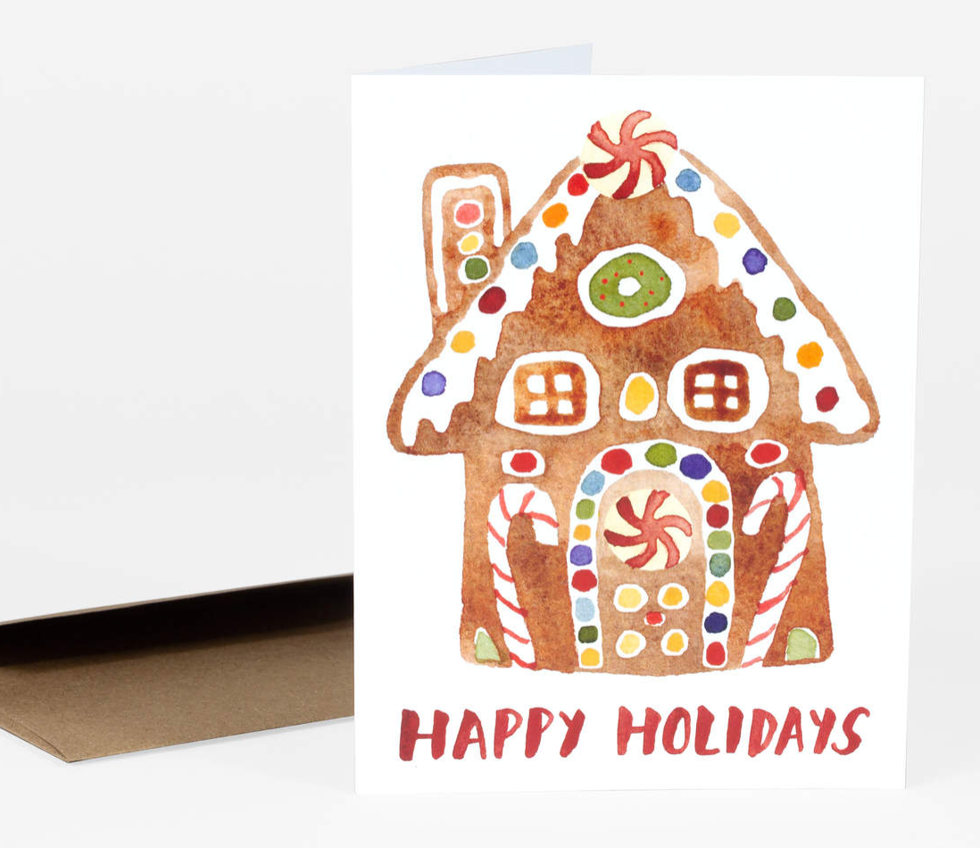 """Happy Holidays"" Card Card by Little Truths Studio from Madison Soap Company"