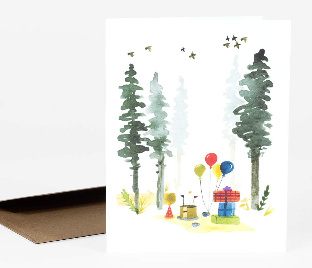 """Woodland Birthday"" Card Card by Little Truths Studio from Madison Soap Company"